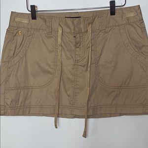 NWT Express tan mini skirt size 12